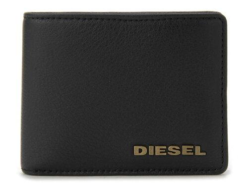ディーゼル DIESEL レザー・二つ折り財布 X01967PS777H4486 ブラック メンズ