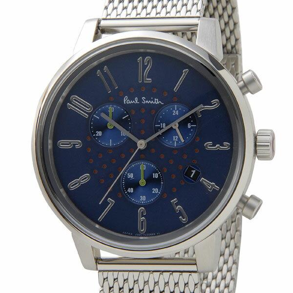 ポールスミス Paul Smith 腕時計 メンズ BR4-012-71 チャーチ ストリート クロノグラフ ネイビー×シルバー 信頼の日本製:s-select