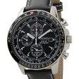 セイコー SEIKO SSC009P3 ソーラー フライトマスター パイロット アラーム クロノグラフ ブラック メンズ 腕時計