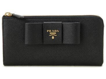 プラダ PRADA L字ファスナー長財布 1ML183 ZTM F0002 サフィアーノ レザー ブラック P10SP