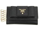 プラダ PRADA キーケース 1PG222 ZTM F0002 サフィアーノ レザー リボン ブラック