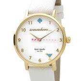 ケイトスペード kate spade 時計 1YRU0765 メトロ ハッピーアワー ホワイト×ゴールド レディース 腕時計