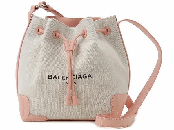 バレンシアガ ショルダーバッグ BALENCIAGA 409000-AQ37N-5780 キャンバス ネイビーバケット ピンク:s-select