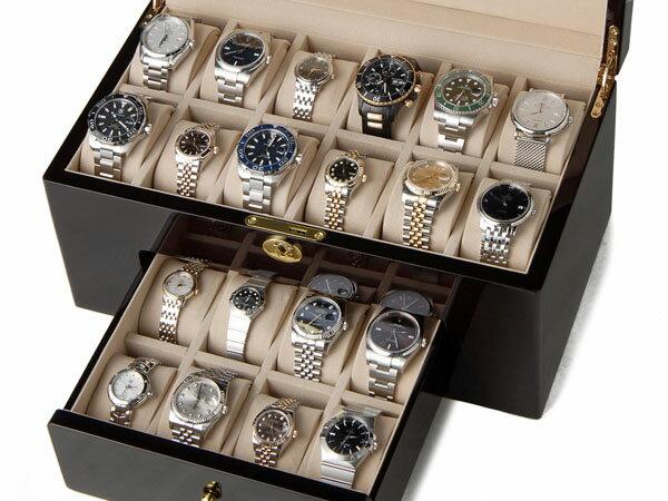 ロイヤルハウゼン Royal hausen 時計収納ケース 腕時計 20本収納 ケース GC02-LG4-20 ウォッチケース ダークブラウン 時計雑貨 DEAL