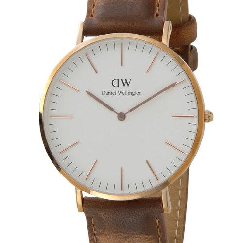 Daniel Wellington ダニエルウェリントン 腕時計 DW00100109 クラシック ダラム 40mm ローズゴール...