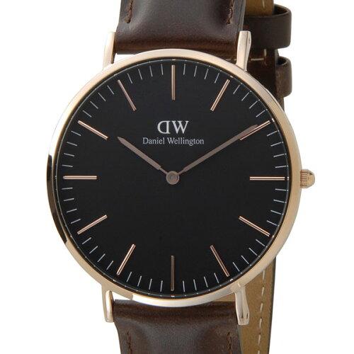 Daniel Wellington ダニエルウェリントン 腕時計 DW00100125 クラシックブラック ブリストル 40mm ...