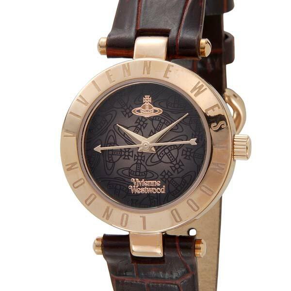 ヴィヴィアンウエストウッド VIVIENNE WESTWOOD レディース 腕時計 ブラウン×ローズゴールド VV092BRBR