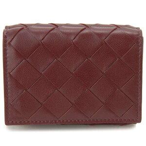 ボッテガ・ヴェネタ Bottega Veneta 三つ折り財布 レディース ボルドー 609285VCPP2 6206 イントレチャート