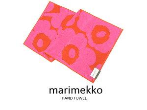 マリメッコ Marimekko ハンドタオル 63630-330 UNIKKO ウニッコ フェイスタオル レッド×ピンク 新品