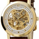 メンズ腕時計スケルトンウォッチ革ベルトゴールド×ブラウン自動巻きモンテスピガmonteSPIGA