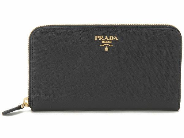 プラダ PRADA 1M0506-UZF-F0002 カーフ 長財布 ブラック:s-select