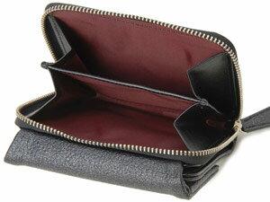 ラメットベリー財布二つ折り財布スタイリッシュレザーフォールドウォレットRABHS002ブラック黒レディースRamettoBelly