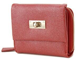 ラメットベリー財布二つ折り財布スタイリッシュレザーフォールドウォレットRABHS002レッド赤レディースRamettoBelly