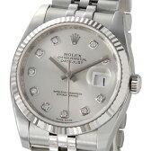 ロレックス ROLEX 116234 G デイトジャスト シルバー ダイヤモンド10P メンズ 腕時計 新品 送料無料