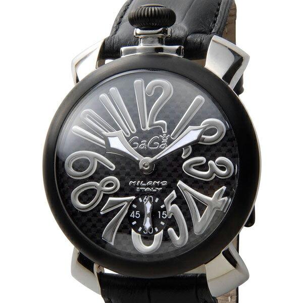 ガガミラノ Gaga Milano 5013.01S マヌアーレ 48mm ブラック メンズ 時計:s-select