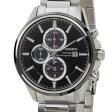 セイコー SEIKO SSC255P1 ソーラーアラーム クロノグラフ クオーツ ブラック×シルバ メンズ 腕時計