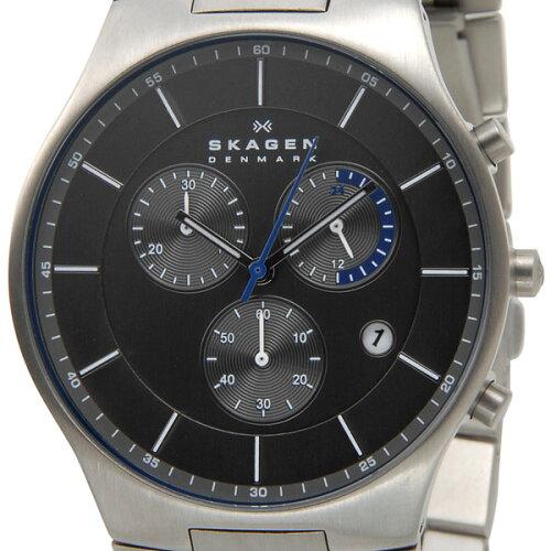 スカーゲン SKAGEN メンズ 腕時計 SKW6077 Aktiv Chronograph Titanium アクティブ クロノグラフ ...