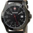 ウェンガー WENGER 70475 メンズ腕時計 ALPINE アルバイン ブラック ミリタリー アウトドア