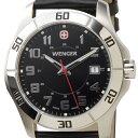 ウェンガー WENGER 70485 メンズ腕時計 ALPINE アルバイン ブラック/シルバー ミリタリー アウトドア ブランド ブランド