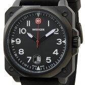 ウェンガー WENGER 72424 メンズ腕時計 エアログラフコクピット ブラック ミリタリー アウトドア 時計