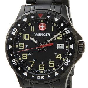 ウェンガー WENGER メンズ腕時計 オフロード 79309 ブラック ミリタリー アウトドア ブランド 時計