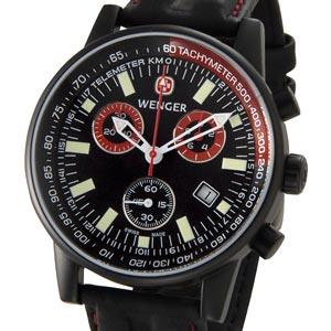 ウェンガー WENGER SRC 70731XL コマンドクロノスペシャルズ ブラック メンズ ミリタリー アウトドア ブランド 時計