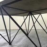【古材コーヒーテーブルジオメトリー】インテリア古材木製テーブルコーヒーテーブルローテーブルセンターテーブル80800スチール柄模様幾何学正方形四角インダストリアルブルックリンヴィンテージオリジナルデザインおしゃれ送料無料