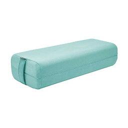 色:ターコイズ Reehutヨガボルスター 混合密度 快適にサポート 瞑想ボルスター 長方形 洗濯機で洗えるスエードカバー 持ち手付き(グレー、ピンク、ターコイズ)
