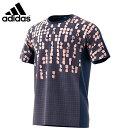 adidasCW7063コードシャツダークブルークリアオレンジバドミントンウェアアディダス2018FW【日本バドミントン協会審査合格品/取り寄せ】