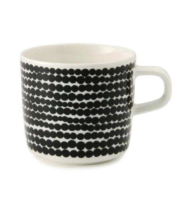 【marimekko】 Siirtolapuutarha(シイルトラプータルハ) コーヒーカップ ブラック /コップ ティー用品 コーヒー用品 マリメッコ