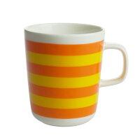 【 marimekko マリメッコ 】 Tasaraita(タサライタ) マグカップ 250ml オレンジ × イエロー コップ ティー用品 コーヒー用品 マリメッコ マグ カップ