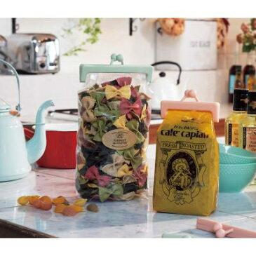 【がまぐちキッチンクリップセット1組/1カートン (100個)】袋をパチンッと密封!大小2個セット 実用的 食品 お菓子 乾物 おしゃれ フォト SNS