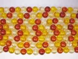【半連売り商品】合成樹脂琥珀(アンバー)Φ6±0.2mm