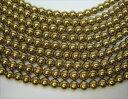 連売り商品 ゴールドヘマタイト品質AAAΦ6±0.2mm