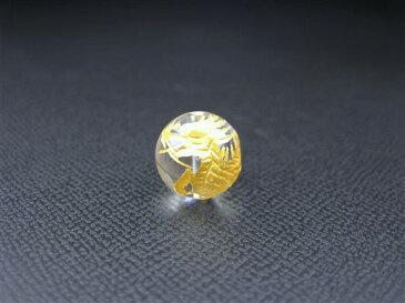 ※訳あり※【粒売り:麒麟】水晶Φ12±0.2mm【ゴールド】