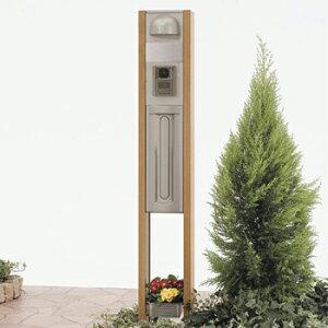 ウッド調でナチュラルなイメージに仕上げた機能門柱!【機能門柱】TOEX LIXILTOEX-SCREEN-FUW-A...