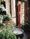 機能の形は味わい深く、何だか懐かしい!手入れがなされた庭を持つ家からは丁寧な暮らしが想像できます!【ウォーターガーデン】立水栓水栓柱+蛇口+ガーデンパン(双口・分岐栓付)【送料無料】