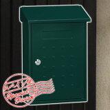 郵便ポスト PE-5643 プレミアムポスト グリーンカラー 鍵付き 壁付けタイプ 郵便受け送料別