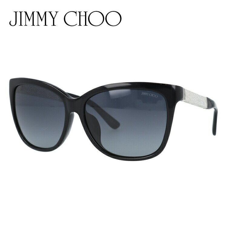ジミーチュウ サングラス JIMMY CHOO CORA FS FA3/HD 58 ブラック/グリッター アジアンフィット【レディース】 UVカット:SUNGLASS HOUSE-サングラスハウス-