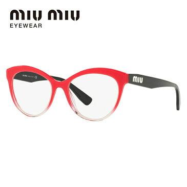 メガネ 度付き 度なし 伊達メガネ 眼鏡 ミュウミュウ レギュラーフィット miu miu MU04RV 1161O1 51サイズ フォックス レディース UVカット 紫外線