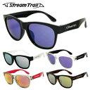 ストリームトレイル サングラス ミラーレンズ アジアンフィット Stream Trail ST3002 全5カラー 54サイズ ウェリントン型 ユニセックス メンズ レディース UVカット 紫外線 1