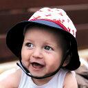 ベビー 帽子 UVカット 赤ちゃん uv 帽子 乳児 乳幼児 男の子 女の子 ハット 紫外線対策 43cm 0歳?6ケ月