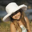 キッズ 帽子 女の子 UVカット 子供用 - ハット - ビッグブリム ハット ホワイト★子供帽子 子供 uv キッズ帽子 女の子 女児 帽子 つば広 折り畳み可能 白い帽子 夏 50cm?53cm