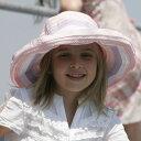 UVカット 帽子 (子供用) - キッズ ハット つば広 子供帽子 子供 ジュニア 女の子 子供用帽子 uv キッズ帽子 女児 夏 52cm?55cm