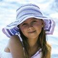 【欧米で大人気】UVカット帽子(子供用)-キッズサンハット-ガールズワイドバケット※紫外線カット(UVカット)最高値のUPF50+