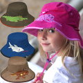 【紫外線対策先進国オーストラリアから直輸入!】UVカット帽子(子供用)-キッズサンハット-ワイドバケット※紫外線カット(UVカット)最高値のUPF50+