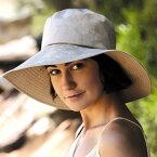 UVカット 帽子(女性用) - レディース ハット レデイース つば広 帽子 uv 夏 - ワイド ブリム ハット カラー:シャイニー カーキ ※紫外線カット(UVカット)最高値UPF50+ 母の日 ギフト
