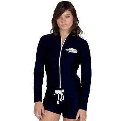 水着 レディース 女性 UVカット - レディース スイムジャケット 長袖※UVカット(紫外線カット)最高...