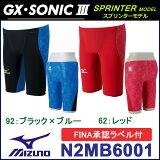 【送料無料】【FINAマーク付】競泳水着 メンズ gx sonic3 Mizuno(ミズノ) ハーフスパッツ GX・SONIC3 ST 高速水着 スプリンター 競泳水着 メンズ Men's 競泳用水着 N2MB6001