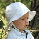 楽天帽子 キッズ UVカット ベビー 幼児用 ハット こども 子供 - トドラー サウスウェスター kids カラー:プレイン ホワイト 43cm 46cm 49cm 52cm(目安:0歳?3歳) ※紫外線カット(UVカット)最高値UPF50+ 帽子 キッズ
